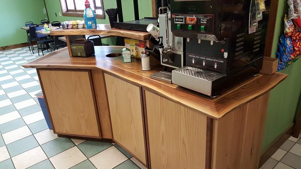 Custom commercial coffee bar