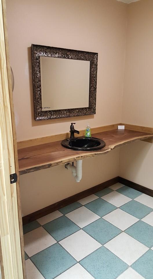 Custom wod bathroom vanity display counter top