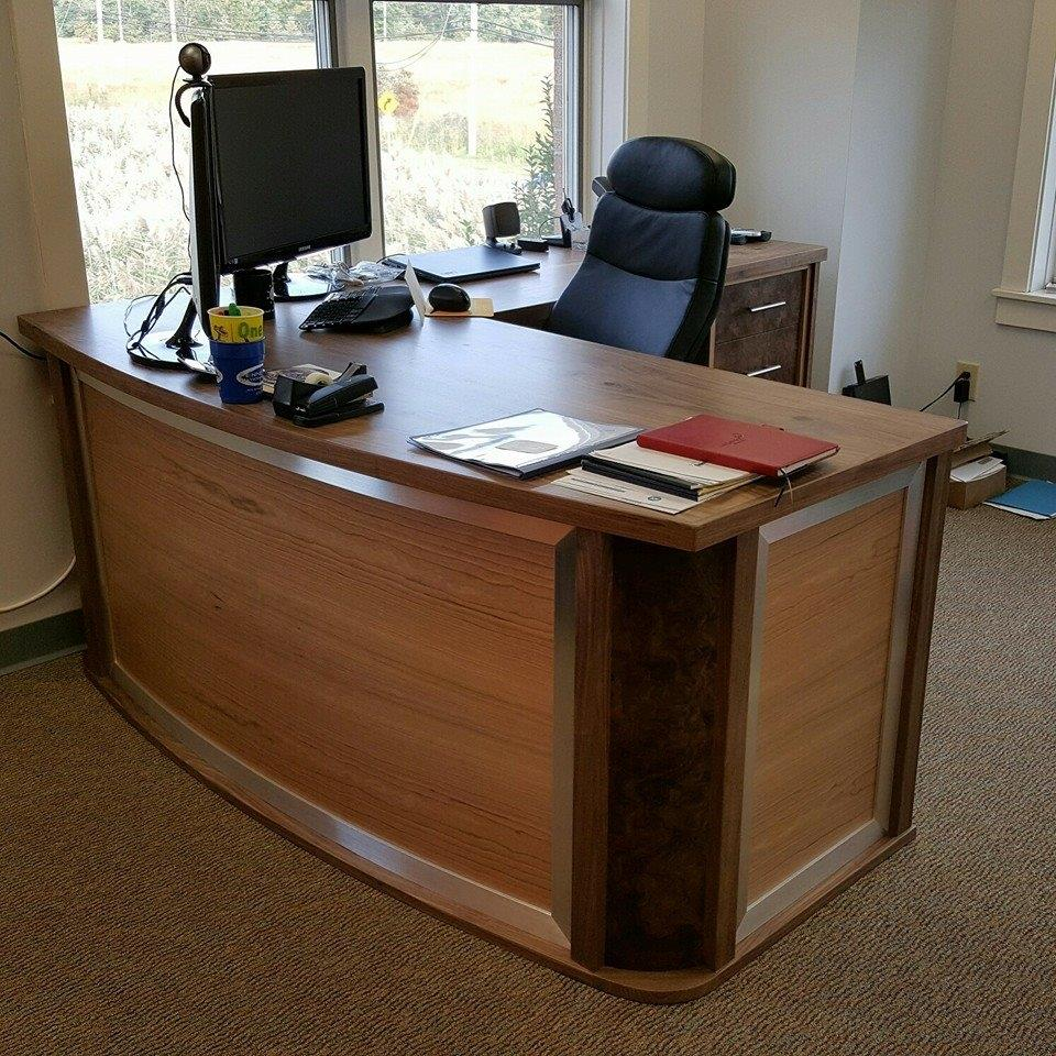 Round front executive desk