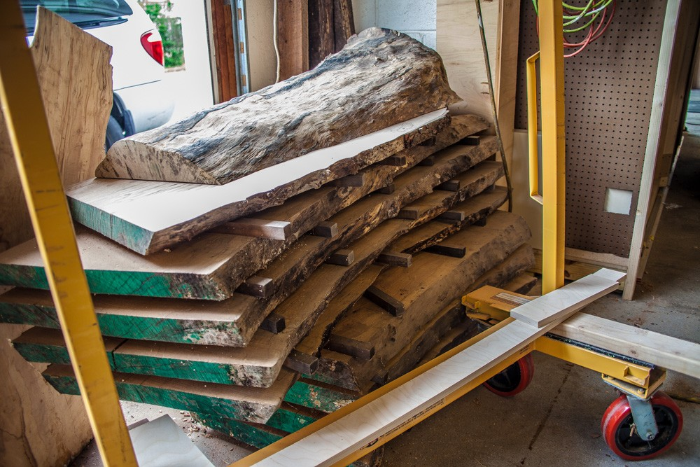 stack of wood that has been sawed into smaller pieces