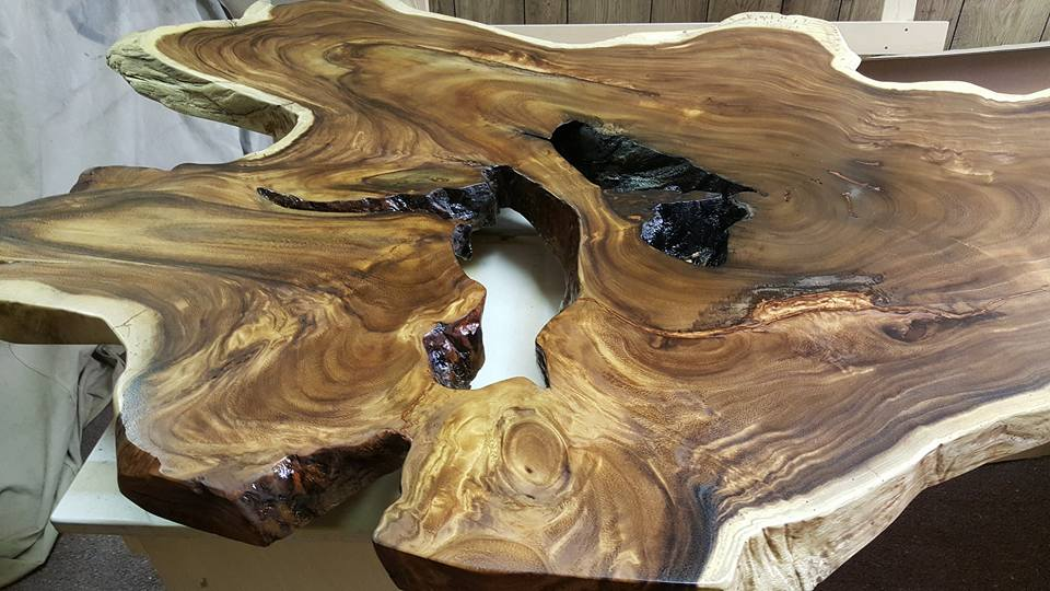 Exotic wood table top