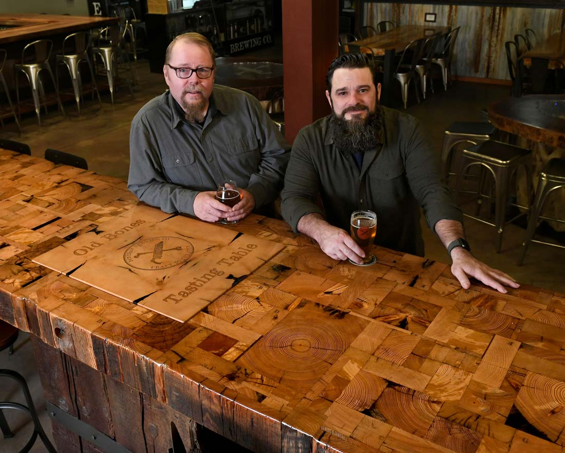 Randy-and-Dorsey-with-Bonesaw-End-Grain-Table